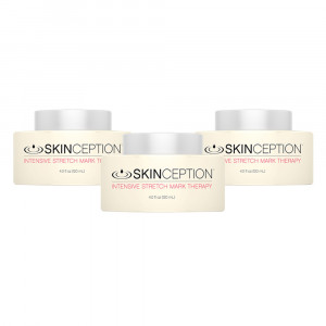 Skinception Intensive Stretch Mark Therapy - Creme Anti-Vergetures - Raffermit & Repare - 3x120ml