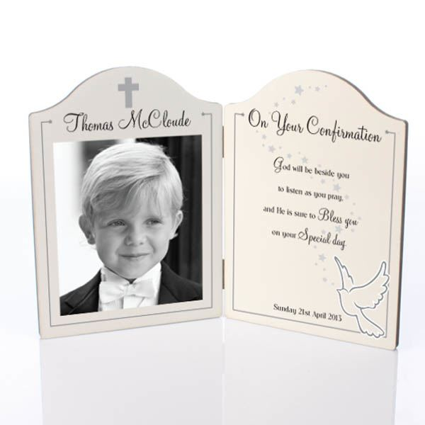 On Your Confirmation Photo Message Plaque