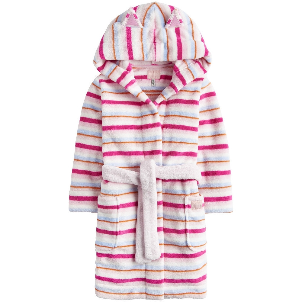 Joules Girls Odrteddy Cat Ears Pocketed Cosy Dressing Gown 5 years - Chest 23.25' (59cm)