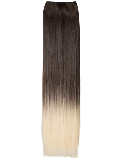 Luxury Ombre One Piece Straight Clip-In Chocolate Brown to Pure Blonde 6TT613