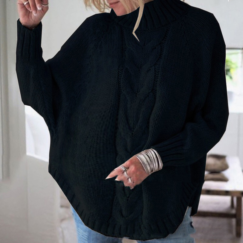 Cozy Solid Batwing-sleeve Maternity Sweater