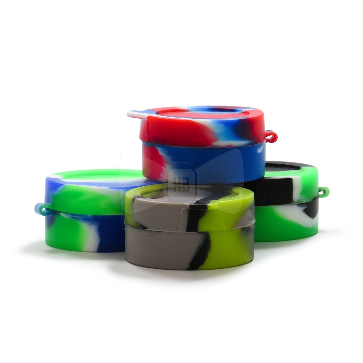 Small Round Silicone Container with Divider
