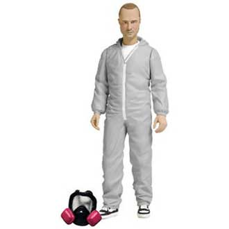 Jesse Pinkman in White Overalls Figure from Breaking Bad