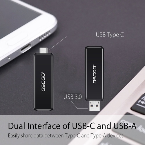 OSCOO USB 3.0 Type-C 3.1 Flash Drive USB Type-C Dual Drive Memory Sticks U Disk For Type-C Smartphone Computers New MacBook