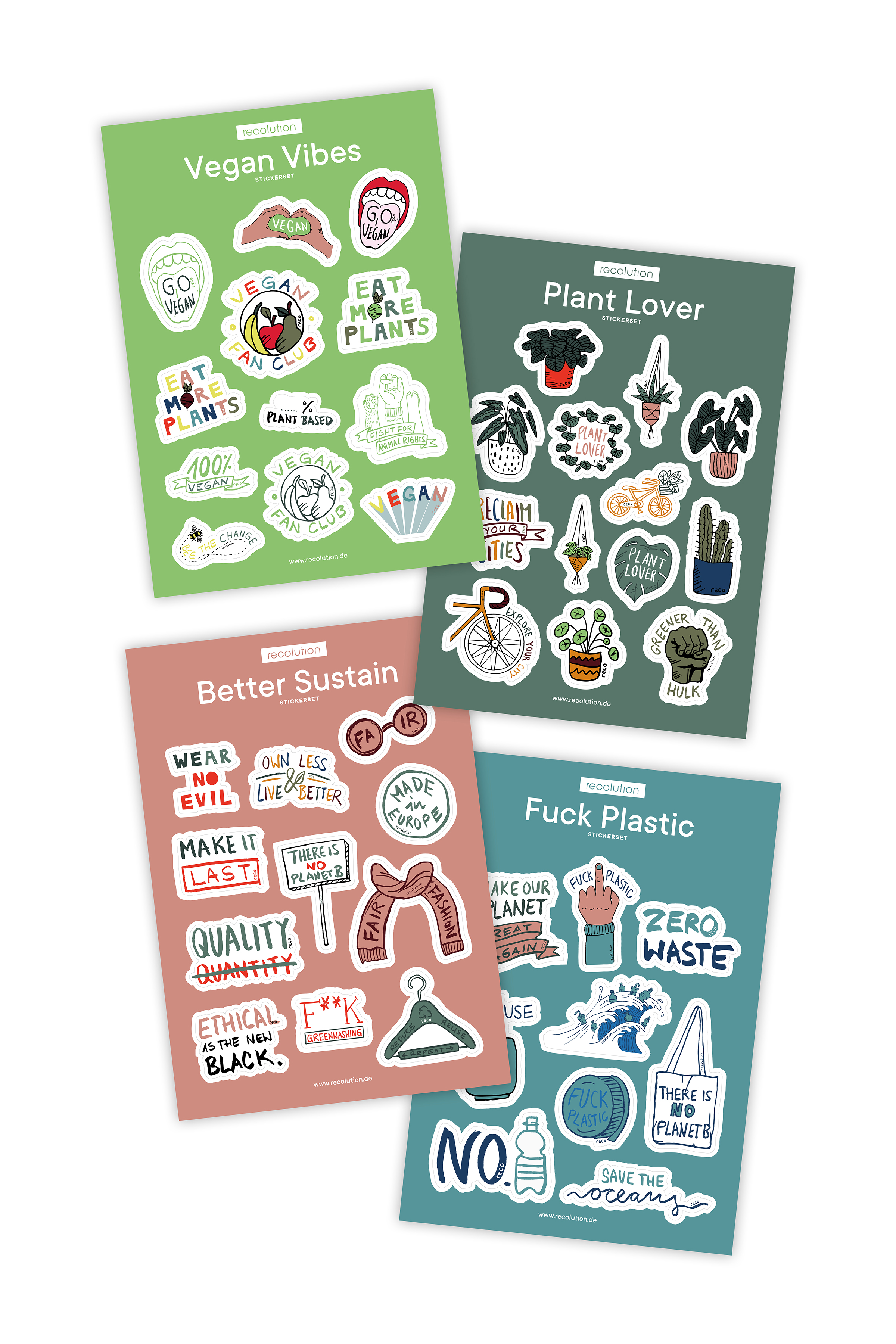 Green City Sticker Set