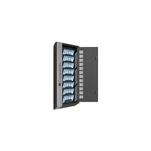 Compulocks WalliPad - 8 units Wall Mounting Charging cabinet + 8 Industrial Charging USB HUB - Gestell für 8 Tablets - Schwarz, silberner Streifen - Wandmontage möglich (WALLIPAD8B)