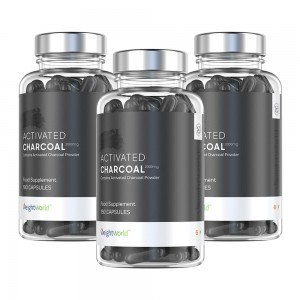 Charbon Active - Activated Charcoal - Formule Detox Hautement Absorbante - 3 boites a -15%