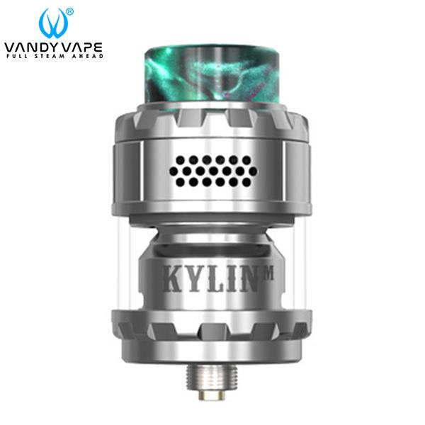 Authentic VandyVape Kylin M RTA 24mm 4.5ml 3ml Rebuildable Tank Atomizer - Silvery SS Stainless Steel
