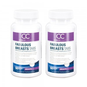 Fabulous Breasts Tabs - Natural Feminine Enhancement for Everyday Use - 90 Tablets - 2 Packs