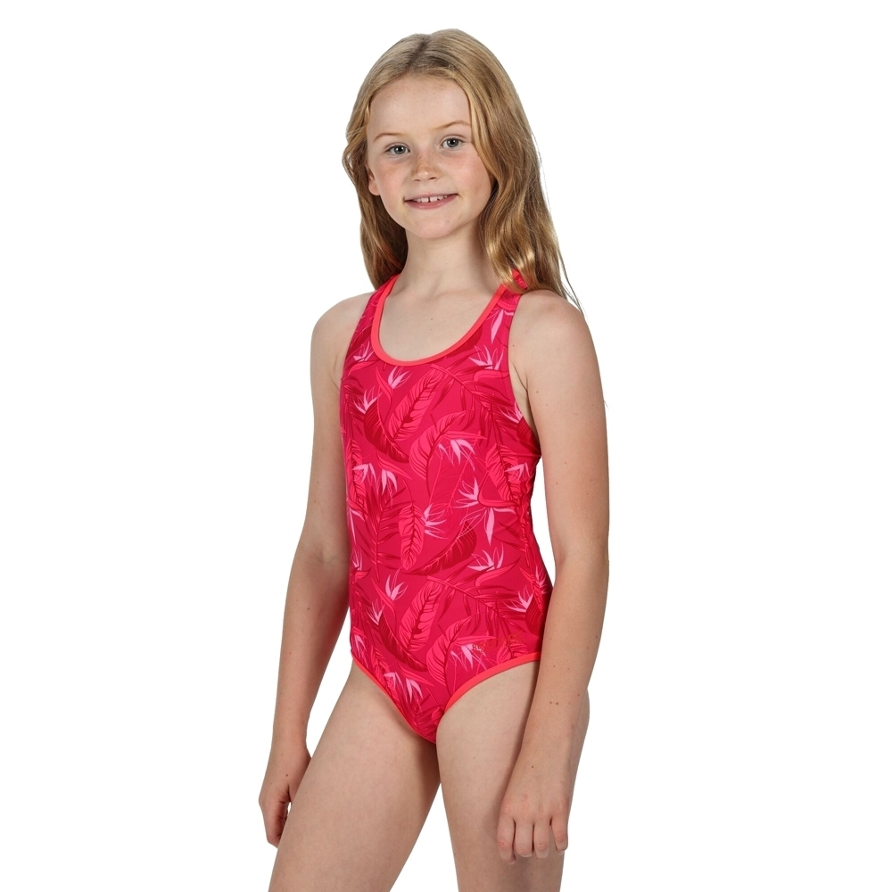 Regatta Girls Tanvi Polyamide Cross Back Swimsuit 9-10 Years - Waist 61-64cm (Height 135-140cm)