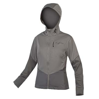 ENDURA WomensTrack Softshell II PewterGrey-XS