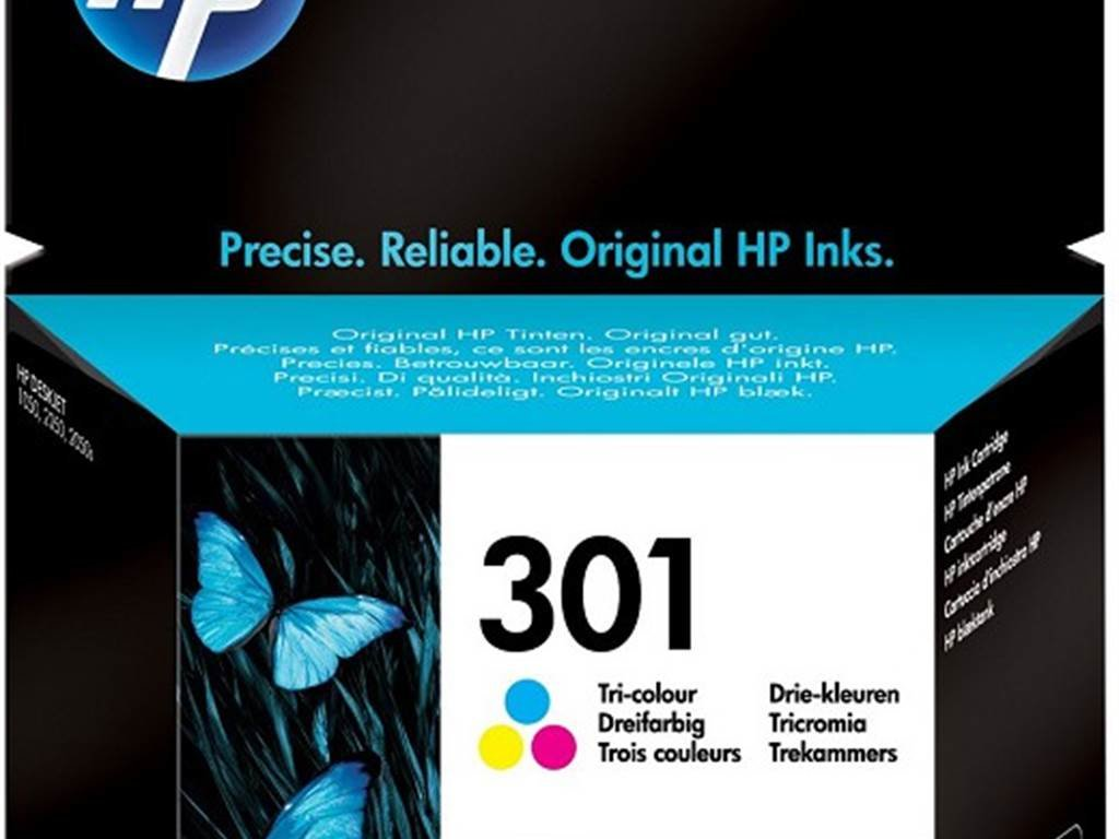 HP 301 Tri-color Ink Cartridge (3-farbig)