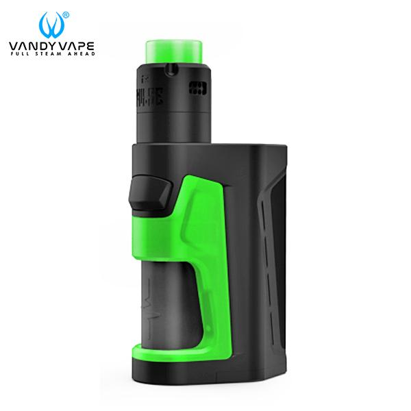 Authentic VandyVape Pulse Dual 220W 7ML Squonk TC Kit with 2ML Pulse V2 RDA - Black&Green