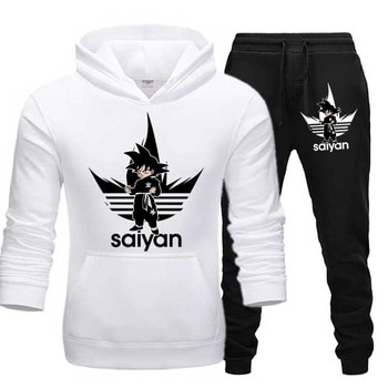 SAIYAN Men's Sets drop shipping hoodies+Pants Harajuku wholesale Sport Suits Casual Sweatshirts Tracksuit Sportswear plus 5XL