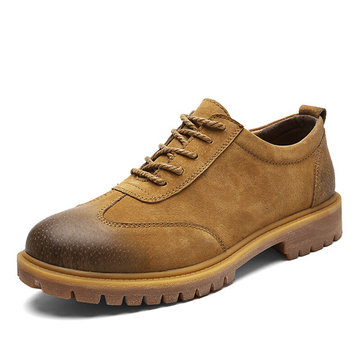Men Leather Wearable Work Shoes