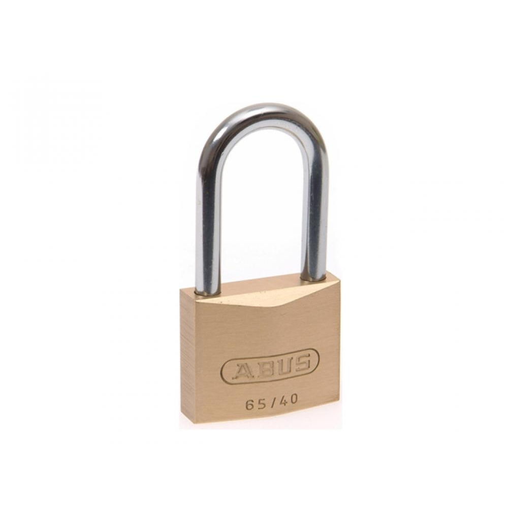 Abus 65/40 HB63 Brass Padlock Long Shackle Keyed Alike 6405