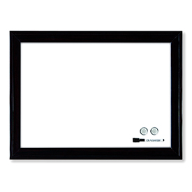 Nobo 1903785 Magnetic Dry Erase Whiteboard Black plastic Frame 430 x 585mm