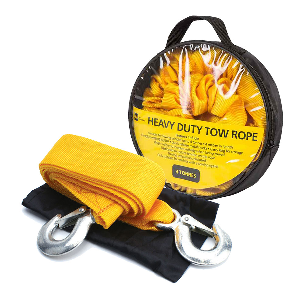 **EOL** AA Car Essentials Tow Rope 4m 4 tonne Max