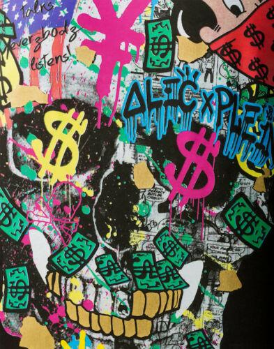 Alec Monopoly Graffiti art wall decor Alec Plen Home Decor Handpainted &HD Print Oil Painting On Canvas Wall Art Canvas Pictures 200202