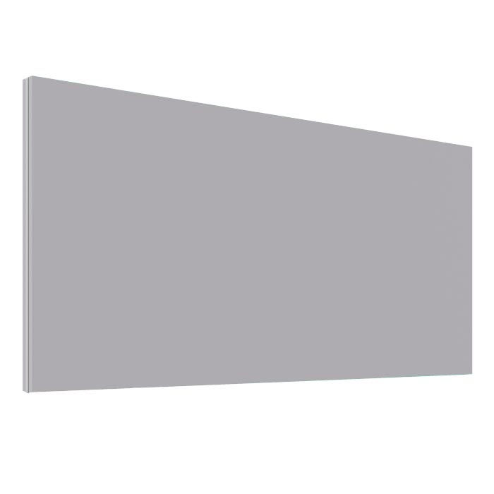 Light Grey Office Desk Screen 1800mm Wide - Height 380mm