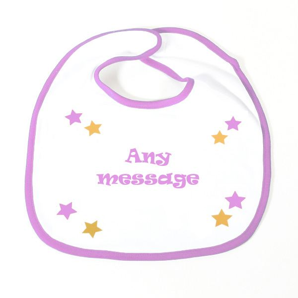 Slogan Baby Bib -Girl