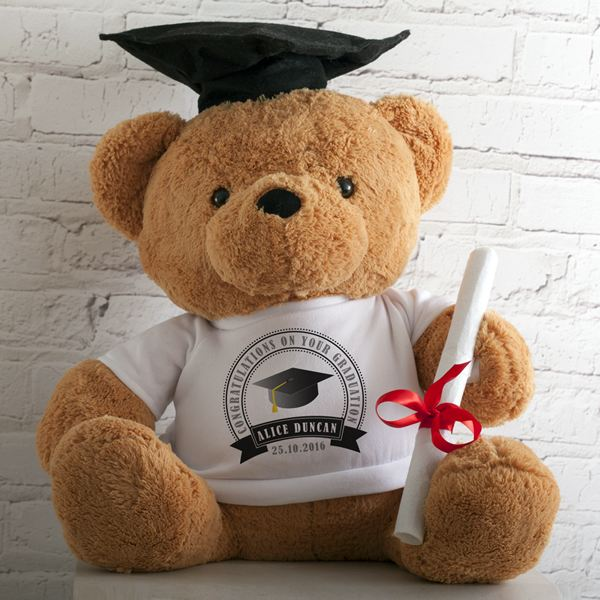Large Graduation Bear With Personalised T-Shirt