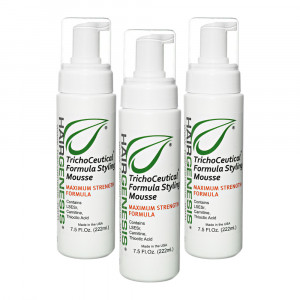 HairGenesis Trichoceutical Mousse - For Thinning Hair - 3 Packs